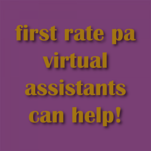first rate pa virtual assistants can help