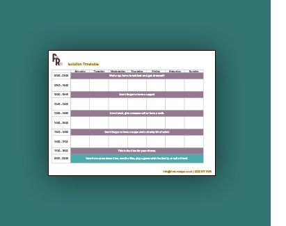First Rate PA Isolation timetable download